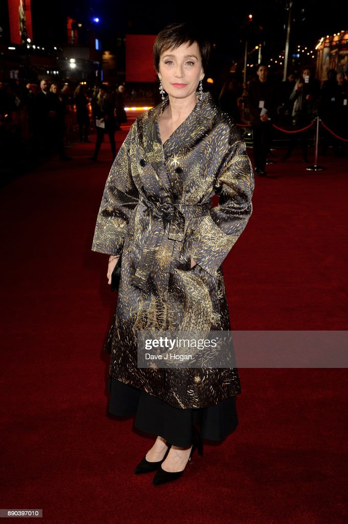 Kristin Scott Thomas attends the 'Darkest Hour' UK premiere at Odeon Leicester Square on December 11, 2017 in London, England.