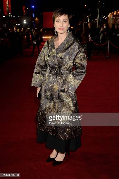 Kristin Scott Thomas attends the 'Darkest Hour' UK premiere at Odeon Leicester Square on December 11 2017 in London England