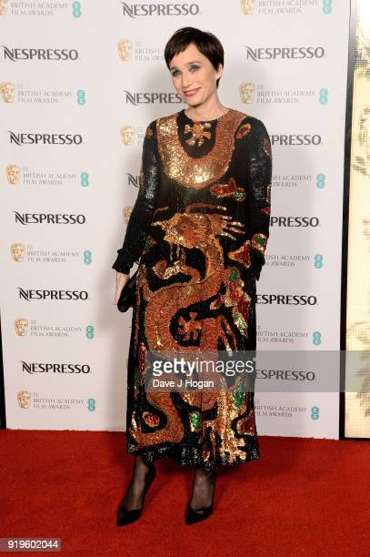 Kristin Scott Thomas attends the EE British Academy Film Awards nominees party at Kensington Palace on February 17 2018 in London England