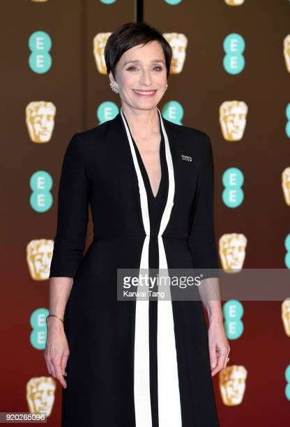 Kristin Scott Thomas attends the EE British Academy Film Awards held at the Royal Albert Hall on February 18 2018 in London England