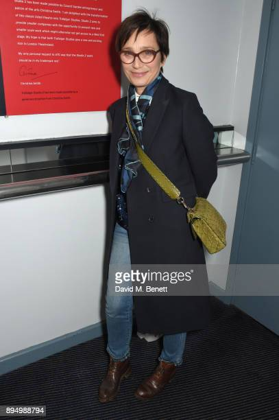 Kristin Scott Thomas attends 'The Grinning Man' press night at Trafalgar Studios on December 18 2017 in London England