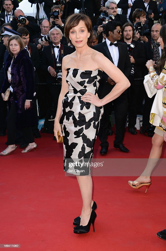Kristin Scott Thomas attends 'The Immigrant' Premiere during the 66th Annual Cannes Film Festival at Grand Theatre Lumiere on May 24, 2013 in Cannes, France.