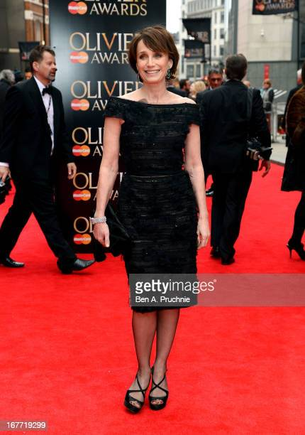 Kristin Scott Thomas attends The Laurence Olivier Awards at the Royal Opera House on April 28 2013 in London England