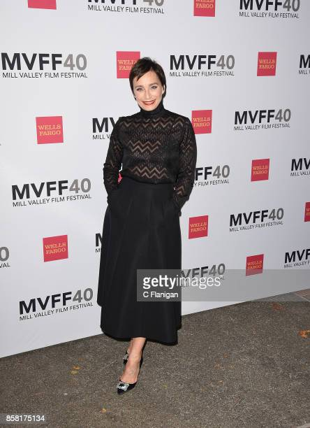 Kristin Scott Thomas attends the Opening Night Premiere of 'Darkest Hour' at the Outdoor Art Club during the 40th Mill Valley Film Festival on...