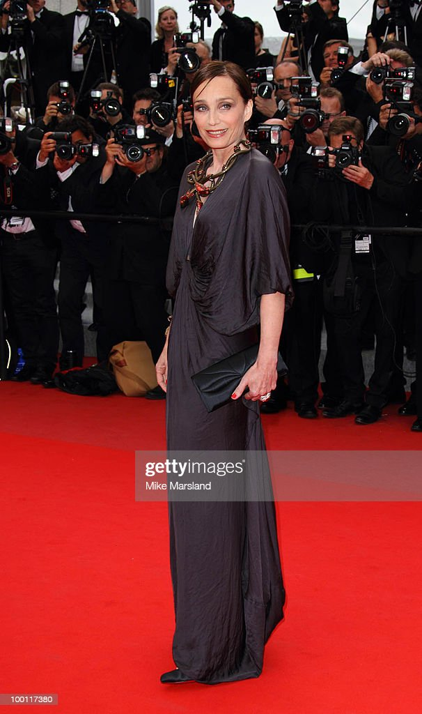 Kristin Scott Thomas attends the 'Outside the Law' Premiere at the Palais des Festivals during the 63rd Annual International Cannes Film Festival on May 21, 2010 in Cannes, France.
