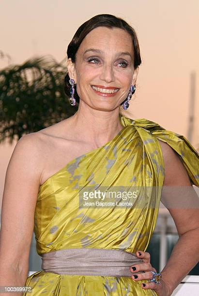 Kristin Scott Thomas attends the Palme d'Or Award Ceremony Photo Call held at the Palais des Festivals during the 63rd Annual International Cannes...