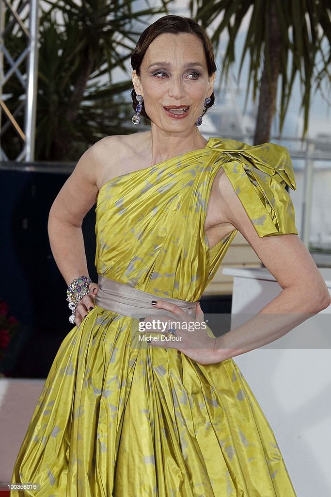 Kristin Scott Thomas attends the Palme d'Or Award Photocall held at the Palais des Festivals during the 63rd Annual Cannes Film Festival on May 23, 2010 in Cannes, France.