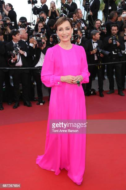 Kristin Scott Thomas attends the 'The Killing Of A Sacred Deer' screening during the 70th annual Cannes Film Festival at Palais des Festivals on May...