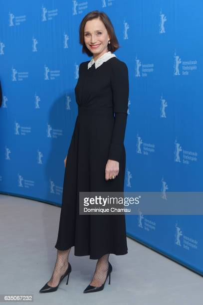 Kristin Scott Thomas attends the 'The Party' photo call during the 67th Berlinale International Film Festival Berlin at Grand Hyatt Hotel on February...