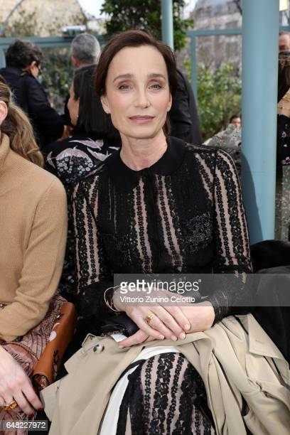 Kristin Scott Thomas attends the Valentino show as part of the Paris Fashion Week Womenswear Fall/Winter 2017/2018 on March 5 2017 in Paris France