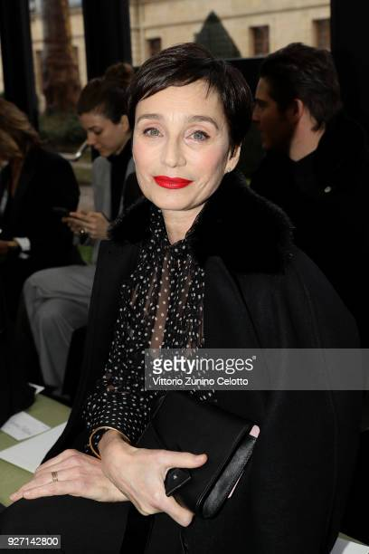 Kristin Scott Thomas attends the Valentino show as part of the Paris Fashion Week Womenswear Fall/Winter 2018/2019 on March 4 2018 in Paris France