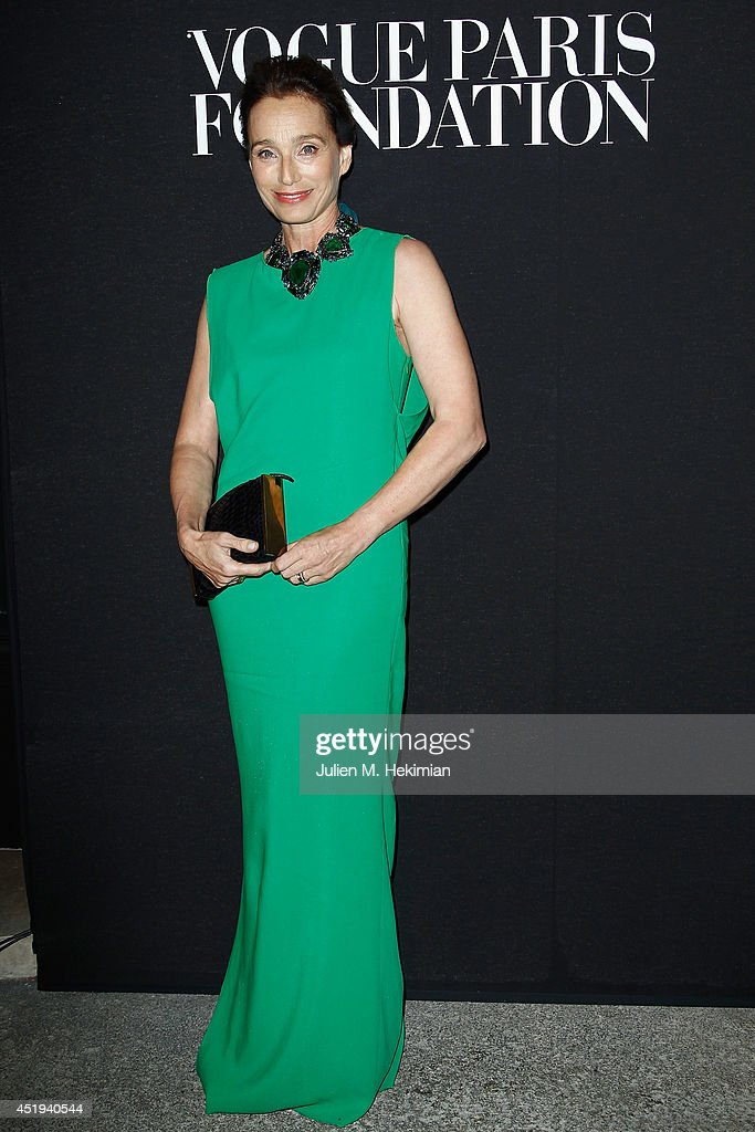 Kristin Scott Thomas attends the Vogue Foundation Gala as part of Paris Fashion Week at Palais Galliera on July 9, 2014 in Paris, France.