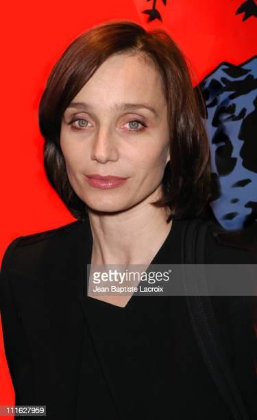 Kristin Scott Thomas during 'Petites Coupures' Press Screening Paris at Max Linder Grands Boulevards in Paris France