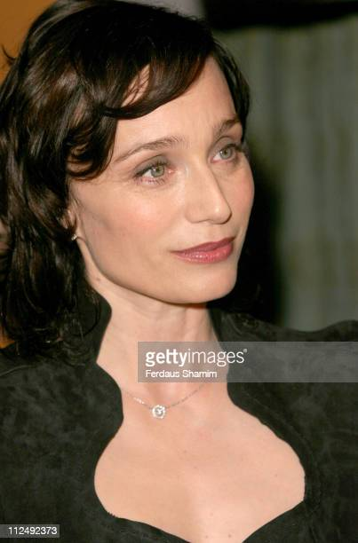 Kristin Scott Thomas during The Renault French Film Season 2005 Press Launch at Institute of Directors in London Great Britain
