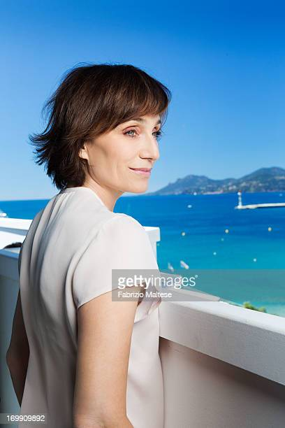 Kristin Scott Thomas for is photographed The Hollywood Reporter on May 20 2013 in Cannes France