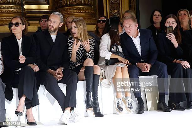 Kristin Scott Thomas husband of Stella Alasdhair Willis Natalia Vodianova Salma Hayek her husband CEO of Kering Group FrancoisHenri Pinault and...