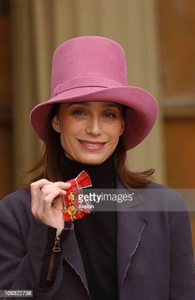 Kristin Scott Thomas - Investitures at Buckingham Palace, London, ..
