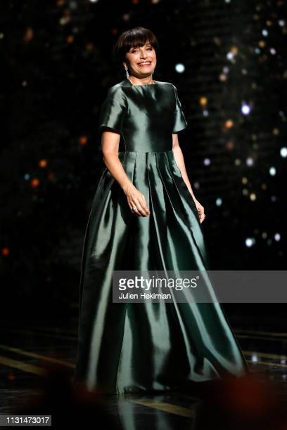 Kristin Scott Thomas is seen on stage during the Cesar Film Awards 2019 at Salle Pleyel on February 22, 2019 in Paris, France.