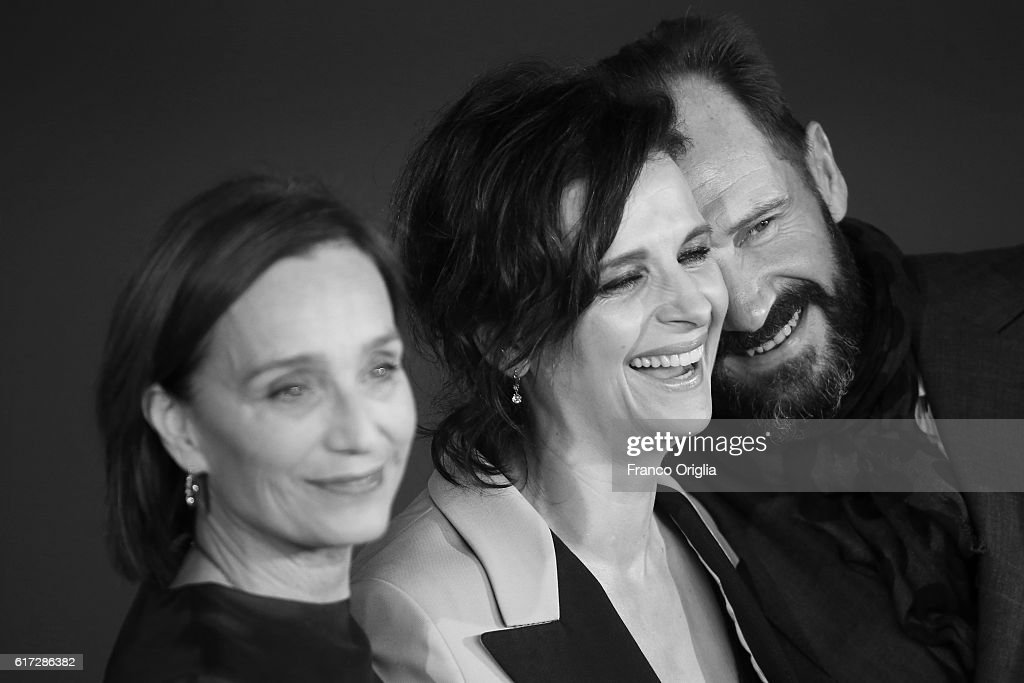 Kristin Scott Thomas, Juliette Binoche and Ralph Fiennes walk a red carpet for 'The English Patient - Il Paziente Inglese' during the 11th Rome Film Festival at Auditorium Parco Della Musica on October 22, 2016 in Rome, Italy.