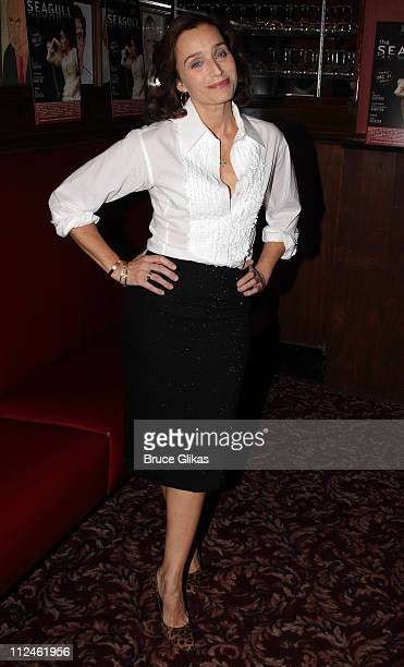 Kristin Scott Thomas poses at The Opening Night After Party for The Seagull at Sardi's on October 2 2008 in New York City