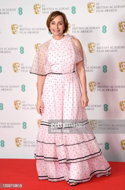 Kristin Scott Thomas poses in the Winners Room during the EE British Academy Film Awards 2020 at Royal Albert Hall on February 02, 2020 in London,...