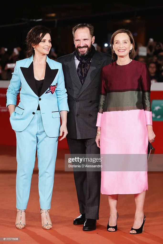Kristin Scott Thomas, Ralph Fiennes and Juliette Binoche walk a red carpet for 'The English Patient - Il Paziente Inglese' during the 11th Rome Film Festival at Auditorium Parco Della Musica on October 22, 2016 in Rome, Italy.