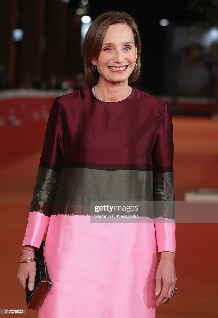 Kristin Scott Thomas walks a red carpet for 'The English Patient - Il Paziente Inglese' during the 11th Rome Film Festival at Auditorium Parco Della Musica on October 22, 2016 in Rome, Italy.