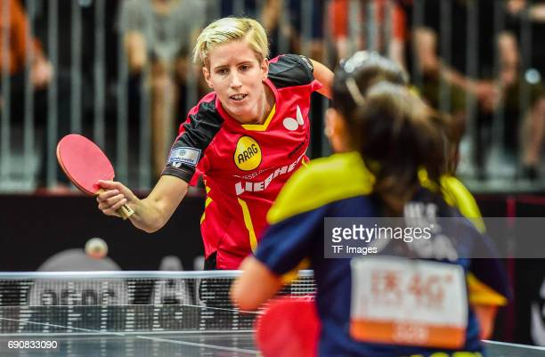 Kristin Sibereisen of Germany in action during the Table Tennis World Championship at Messe Duesseldorf on May 30, 2017 in Dusseldorf, Germany.