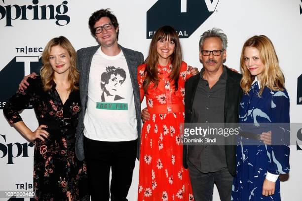 Kristin Slaysman Bridget Moloney Josh Pais Claire Coffee attend the Fall Pilot Season of I was a Teenage Pillow Queen during the 2018 Tribeca TV...