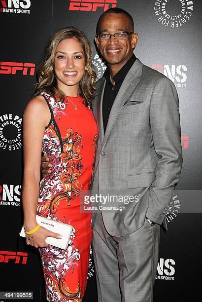 Kristin Spodabalski and Stuart Scott attend the The Paley Center for Media 2014 Spring Benefit Dinner at 583 Park Avenue on May 28 2014 in New York...