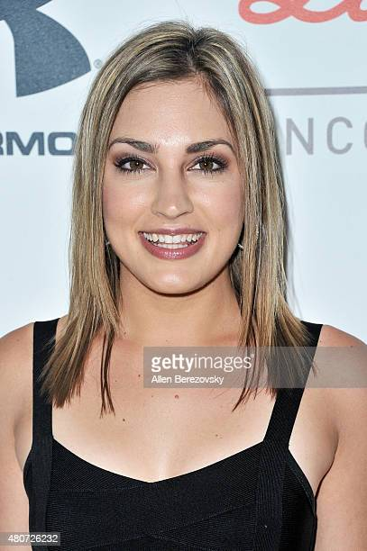 Kristin Spodobalski arrives at the Sports Humanitarian of the Year Awards 2015 at The Conga Room at LA Live on July 14 2015 in Los Angeles California