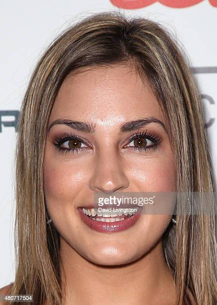 Kristin Spodobalski attends the 2015 Sports Humanitarian of the Year Awards at the Conga Room at LA Live on July 14 2015 in Los Angeles California