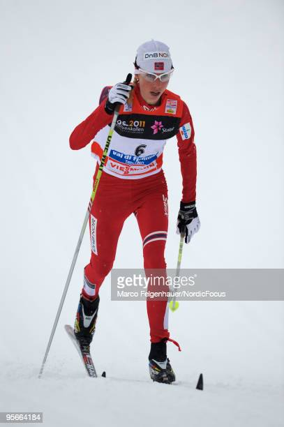 Kristin Stoermer Steira of Norway during the mass women for the FIS Cross Country World Cup Tour de Ski on January 9 2010 in Val di Fiemme Italy