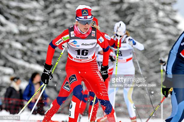 Kristin Stoermer Steira of Norway takes 3rd place during the FIS CrossCountry World Cup Women's 15 km Mass Start on December 18 2010 in La ClusAZ/dfb...