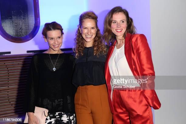 Kristin Suckow Chiara Schoras and Karin Hanczewski during the ARD advent dinner hosted by the program director of the tv station Erstes Deutsches...