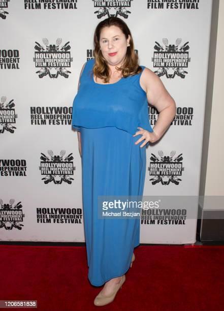 Kristin West arrives at A Dark Foe Film Premiere on February 15 2020 in Los Angeles California