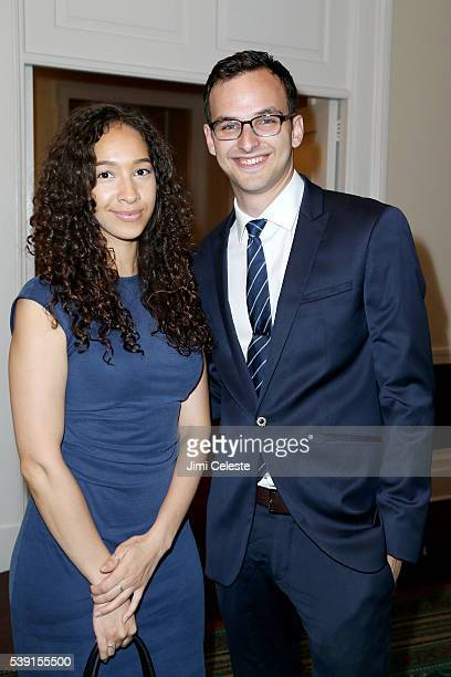 Kristina Aragon and Alex Cohen attend The Horticultural Society of New York Presents Block Party Analog Edition 2016 at India House Club on June 9...