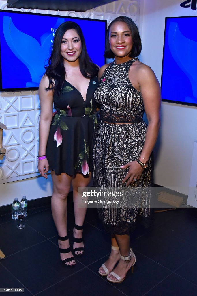 Kristina Arrieta and Natasha Riou attend the 10th Annual Shorty Awards at PlayStation Theater on April 15, 2018 in New York City.