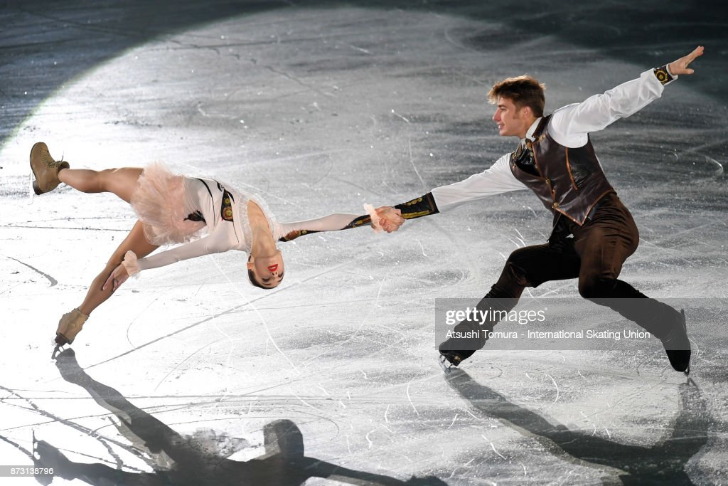 Kristina Astahova and Alexei Rogonov of Russia perform in the gala exhibition during the ISU Grand Prix of Figure Skating at Osaka municipal central gymnasium on November 12, 2017 in Osaka, Japan.