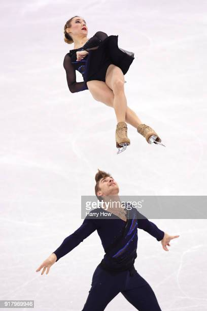 Kristina Astakhova and Alexei Rogonov of Olympic Athlete from Russia compete during the Pair Skating Short Program on day five of the PyeongChang...