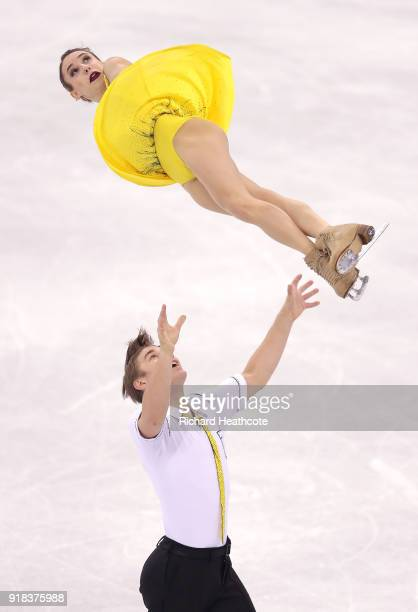 Kristina Astakhova and Alexei Rogonov of Olympic Athlete from Russia compete during the Pair Skating Free Skating at Gangneung Ice Arena on February...