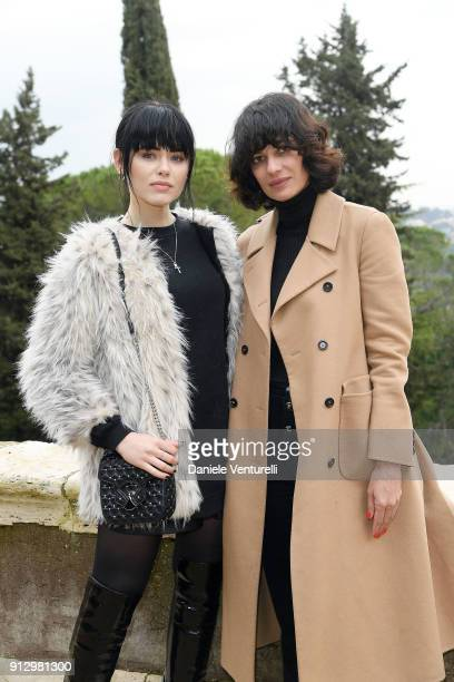Kristina Bazan and Leila Yavari attend Treasures of Rome Book Presentation on February 1 2018 in Rome Italy