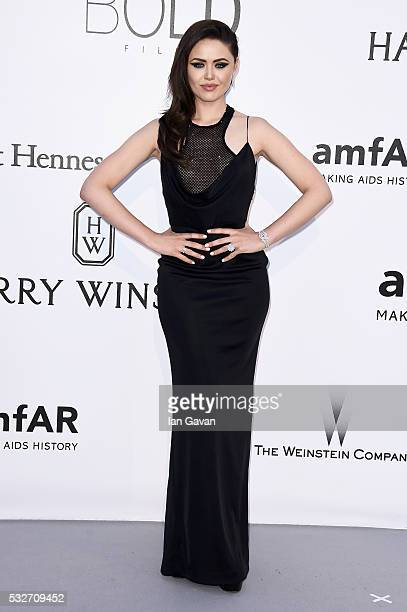 Kristina Bazan arrives at amfAR's 23rd Cinema Against AIDS Gala at Hotel du CapEdenRoc on May 19 2016 in Cap d'Antibes France