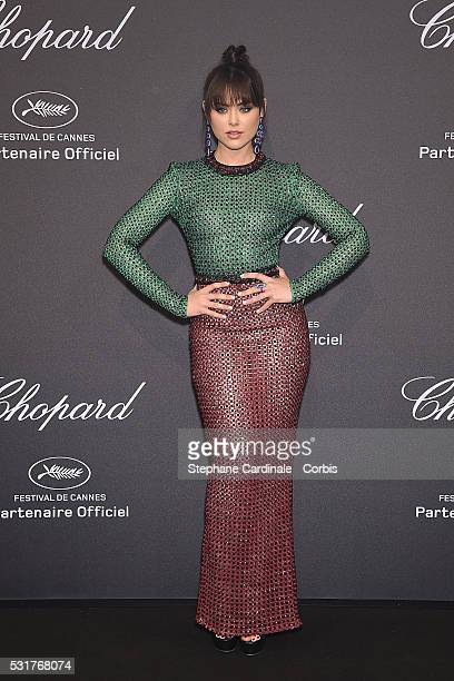 Kristina Bazan attends Chopard party red carpet the 69th annual Cannes Film Festival at on May 16 2016 in Cannes France
