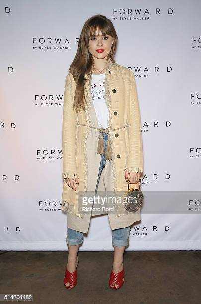Kristina Bazan attends FORWARD by Elyse Walker Cocktail Party on March 7 2016 in Paris France