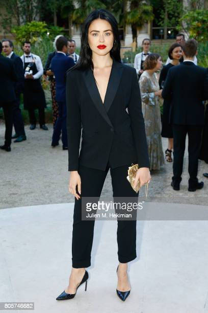 Kristina Bazan attends the amfAR Paris Dinner 2017 at Le Petit Palais on July 2 2017 in Paris France