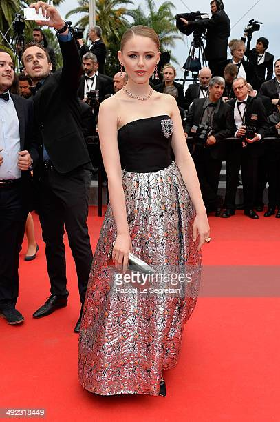 Kristina Bazan attends the 'Foxcatcher' premiere during the 67th Annual Cannes Film Festival on May 19 2014 in Cannes France