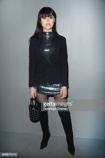 Kristina Bazan attends the HM Studio show as part of the Paris Fashion Week on March 1 2017 in Paris France