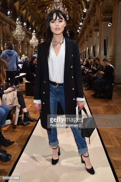 Kristina Bazan attends the Lanvin show as part of the Paris Fashion Week Womenswear Fall/Winter 2017/2018 on March 1 2017 in Paris France