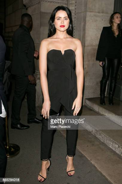 Kristina Bazan attends the 'L'Oreal Paris X Balmain' party on September 28 2017 in Paris France